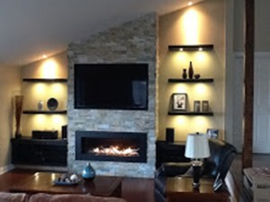 Valor L2 Gas Fireplace…installed by Embers finished by McAdoo
